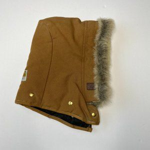 Carhartt Adult Brown Attachable Hood with Fur OS